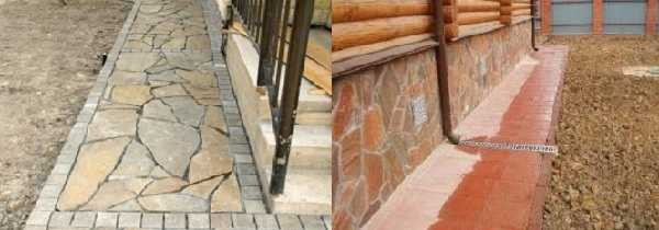 Защитное покрытие может быть из натурального или искусственного камня