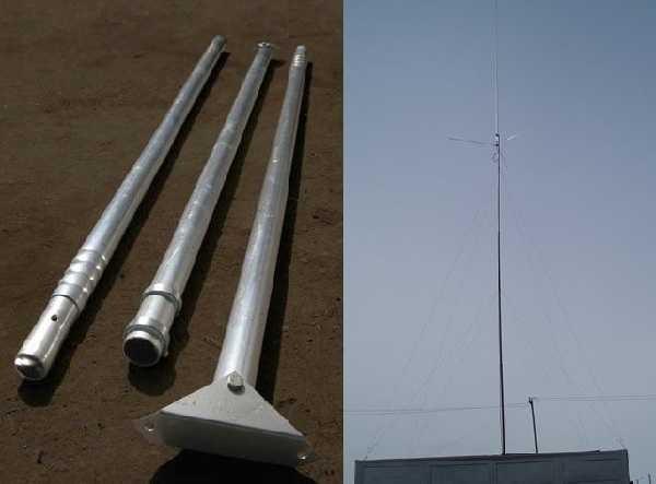 В некоторых случаях приходится поднимать антенну как можно выше - в низинах или если деревья перекрывают прием. Тогда пригодятся телескопические штанги