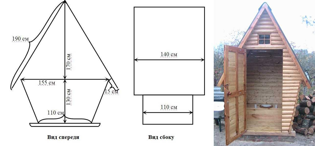 Туалет своими руками чертеж с размерами