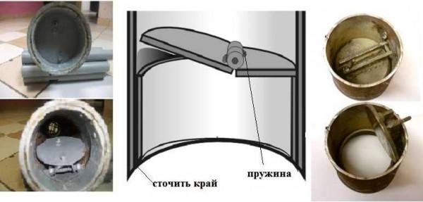 Конструкции плоских клапанов для самодельных желонок