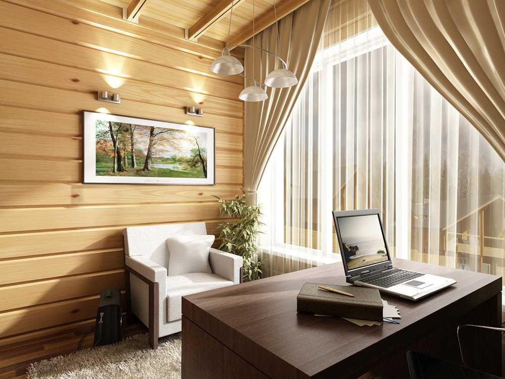 Notranjost hiše lesa