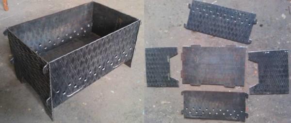 Разборные мангалы из металла своими руками