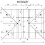 Установка балок перекрытия (цифры - это обозначение материала с спецификации)