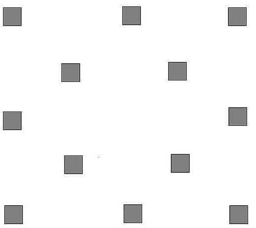 Схема расположения столбиков под беседку 3 на 3 метра