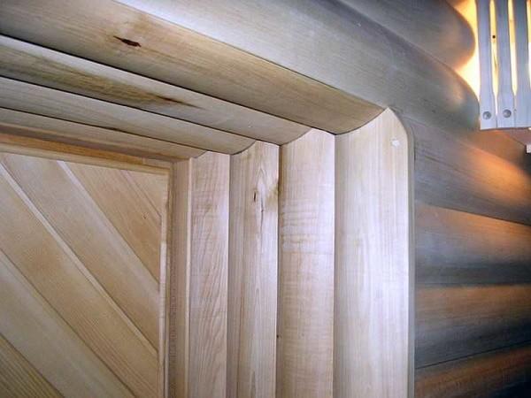 Это обшивка из разновидности вагонки - блок-хауса. Она имитирует стену из бревен