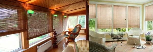 Оформление веранды рулонными шторами: красиво и практично