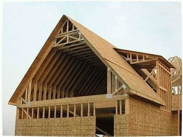 Конструкция мансардного этажа под двускатной крышей