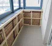 Пример обрешетки балкона лещадь вагонку