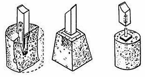 Как крепить стойки веранды к фундаменту