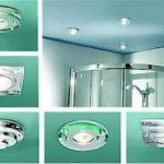 Виды потолочных светильников для ванной комнаты. Все они дают разный поток света - узкий или широкий