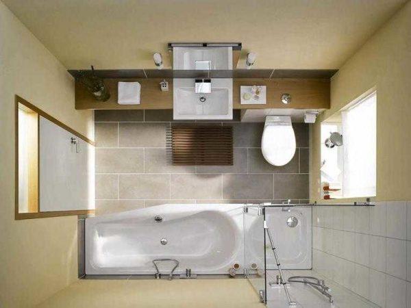 План расстановки предметов для ванной комнаты и туалета. Для раздельных санузлов все будет проще