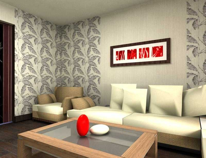 """фото квартир с комбинированными обоями """" Креатив в дизайне"""