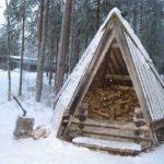 Необычная конструкция - финский дровник