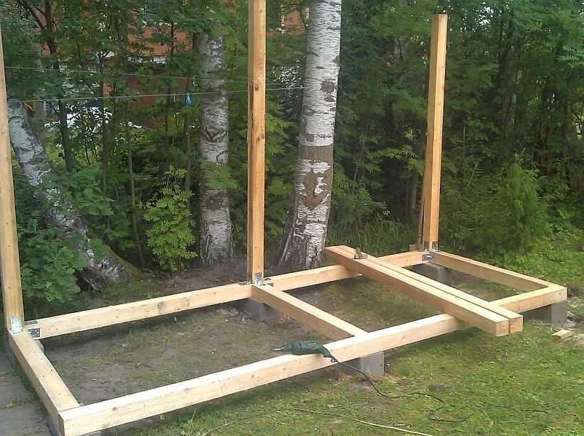 Как построить дровяник на даче своими руками 30