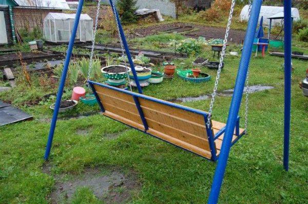 Железные качели садовые своими руками