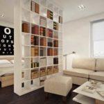 Просто и функционально - стеллаж для книг в качестве зонирующей перегородки