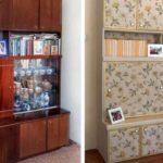 Обновление мебели из ДСП: стенка приобрела современный вид