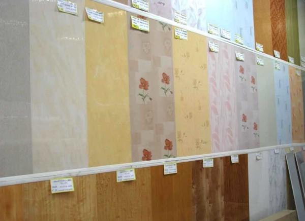 Малая часть ассортимента пластиковых панелей