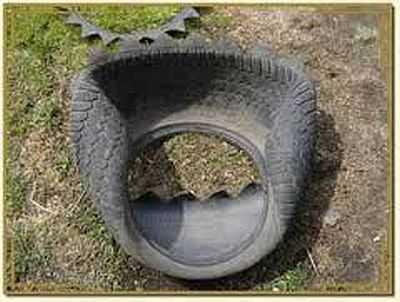 Выворачиваем шину без колесного диска