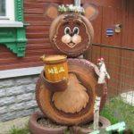 Медведь из старых шин
