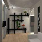 Лаконичный стиль оформления квартиры и такие же лаконичные полки контрастного цвета. В этом интерьере они - главный элемент