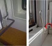 Регулировка нижней петли пластикового окна или двери