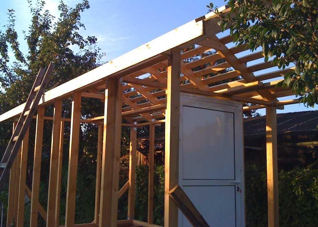 Сарай каркасный с двускатной крышей деревянный пошагово
