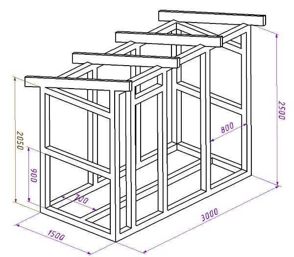 Схеме постройки сарая