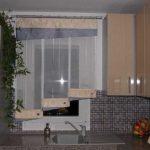 Минимализм японских штор в небольшом помещении как нельзя кстати