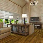 Выбеленная древесина - уютно и легко