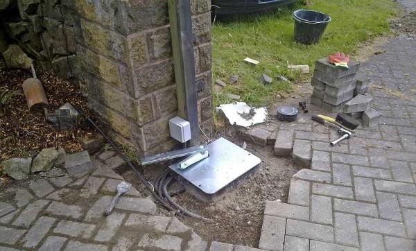 Пример установки подземного привода