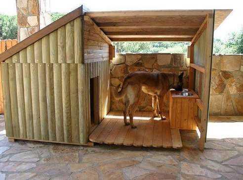 При построении будки нужно ориентироваться на размеры собаки