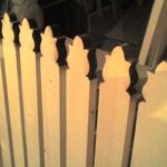 Верхушки в виде лилий - красивый будет забор