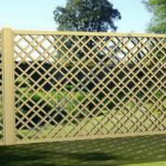 Двойные планки - интересно выглядит такая решетчатая ограда