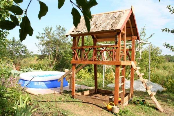 Высокий домик для детей
