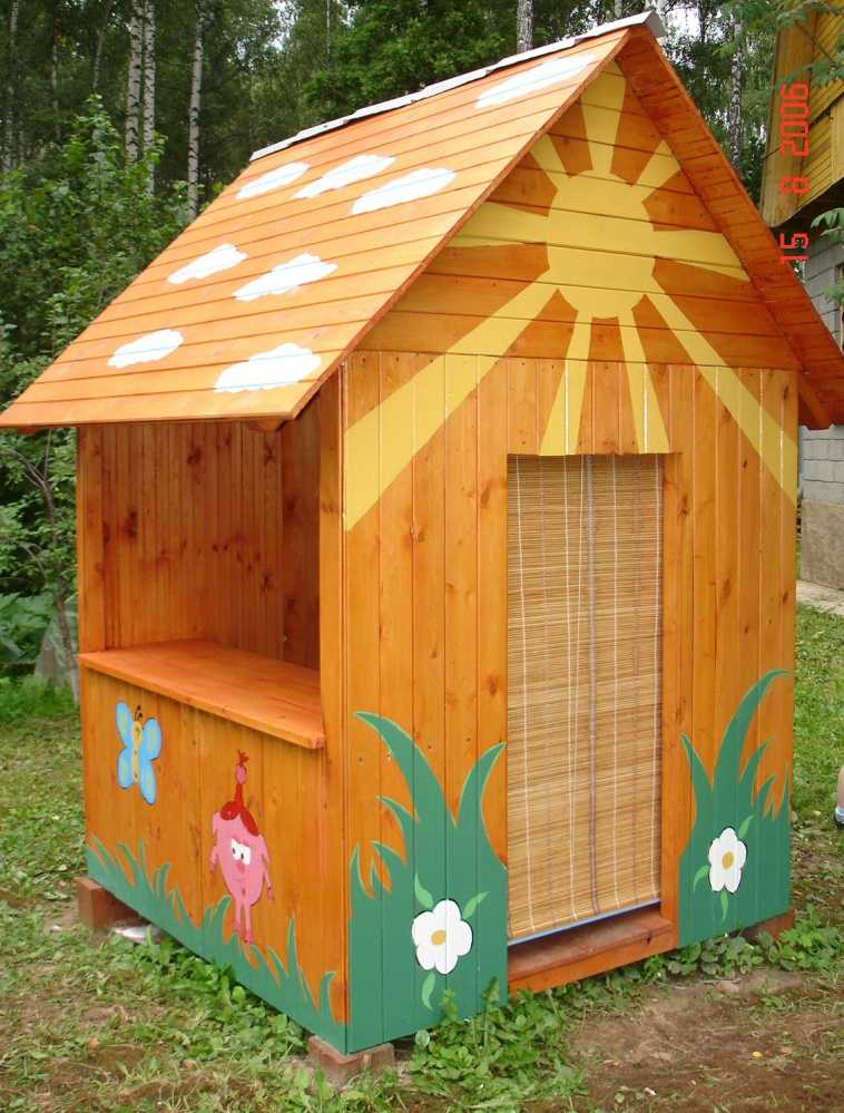 Детские домики из фанеры для дачи своими руками