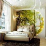 Дизайн спальни в современном стиле для любителей природы