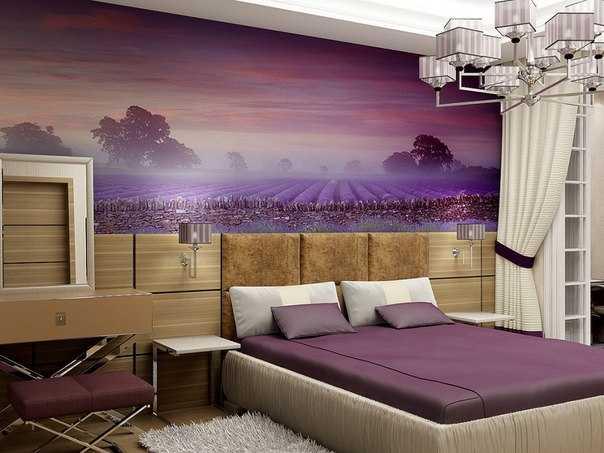 Дизайн спальни: стили, идеи, новинки, фото искусственный камень в интерьере зала