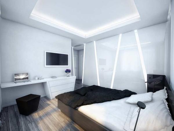Молодежная спальня в стиле хай-тек