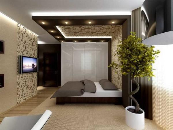 Мужская спальня многим представляется именно в современном стиле, может еще в минималистическом исполнении