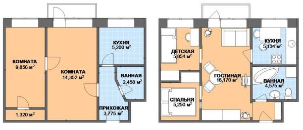 Как из двухкомнатной квартиры сделать трехкомнатную