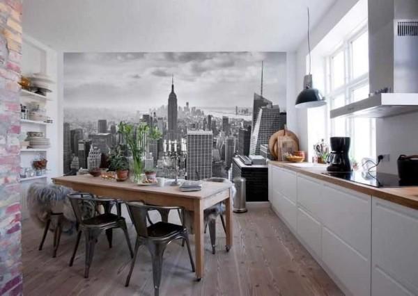 Городские пейзажи на фотообоях - популярная тема