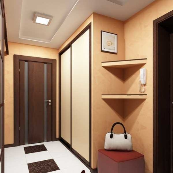 Шкаф купе в углу - отличный способ полностью использовать доступную площадь