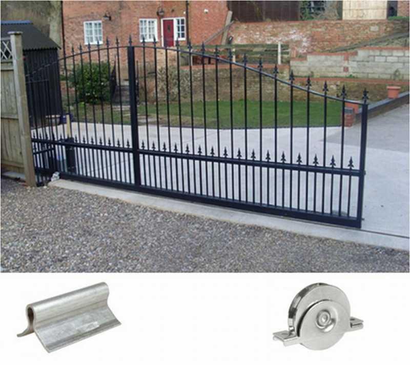 Как сделать откатные рельсовые ворота