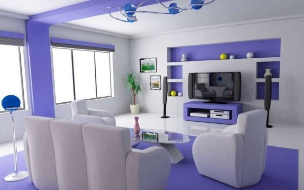 Выделение некоторых элементов - еще один способ комбинированной покраски помещения