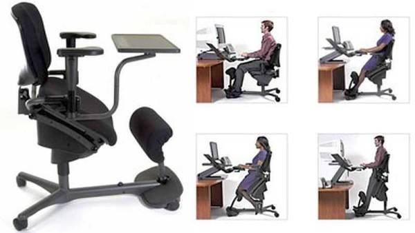 Коленный стул с большим количеством индивидуальных регулировок