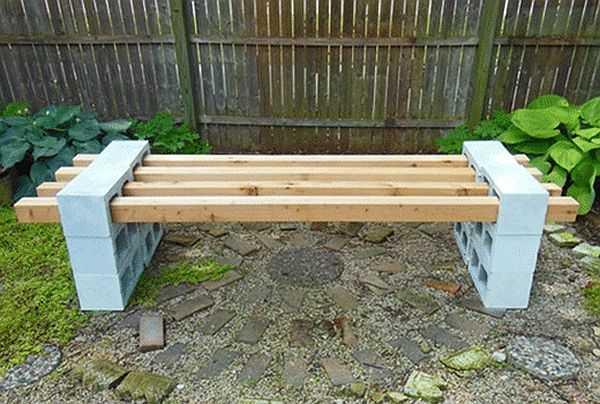 Идеи скамеек для дачи своими руками