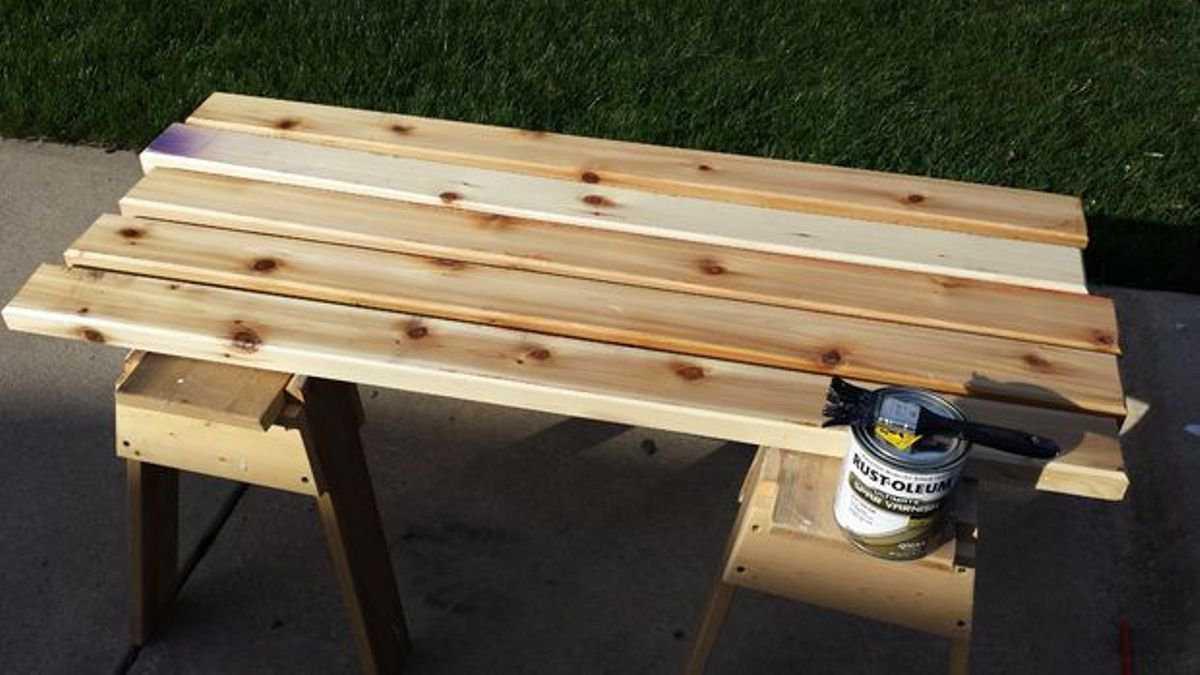 Как сделать простейшую скамейку фото 41