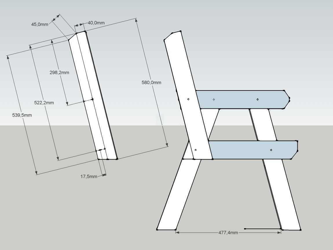 Лавка скамейка своими руками чертежи 70