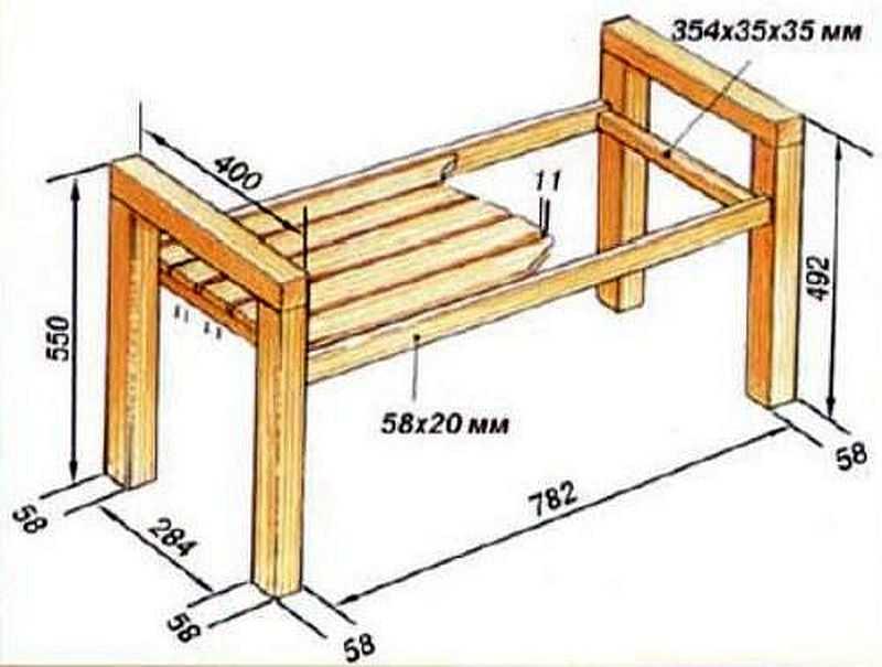Сделать скамейку без спинки своими руками 631